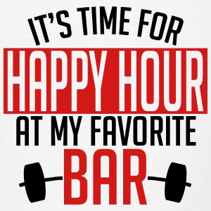 it's time for happy hour at my favorite bar A 2c Tanks - Men's T-Shirt