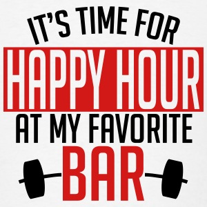 it's time for happy hour at my favorite bar A 2c Hoodies - Men's T-Shirt