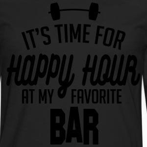 it's time for happy hour at my favorite bar C 1c T-Shirts - Men's Premium Long Sleeve T-Shirt