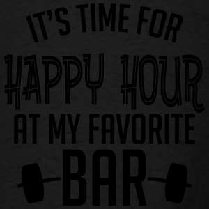 it's time for happy hour at my favorite bar B 1c Tanks - Men's T-Shirt