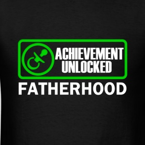 Fatherhood Achievement Unlocked Gamer Dad to be - Men's T-Shirt