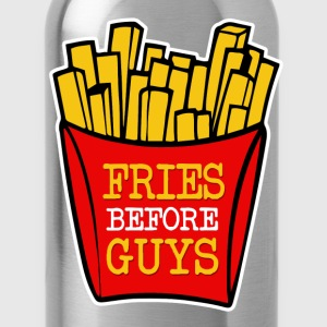 Fries Before Guys funny - Water Bottle