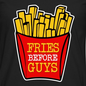 Fries Before Guys funny - Men's Premium Long Sleeve T-Shirt