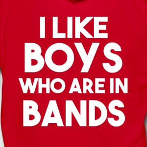 I Like Boys in Bands funny shirt - Unisex Fleece Zip Hoodie by American Apparel