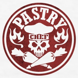 Pastry Chef Skull Logo Red - Men's T-Shirt
