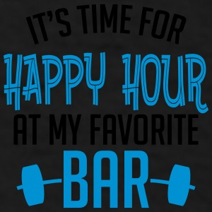 it's time for happy hour at my favorite bar B 2c Mugs & Drinkware - Men's T-Shirt