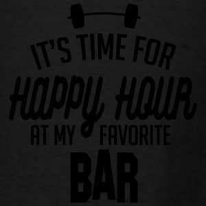 it's time for happy hour at my favorite bar C 1c Bags & backpacks - Men's T-Shirt