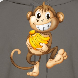 monkey funny with bananas - Men's Hoodie