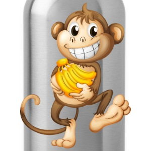 monkey funny with bananas - Water Bottle