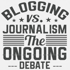 Blogging vs. Journalism - Men's Premium T-Shirt