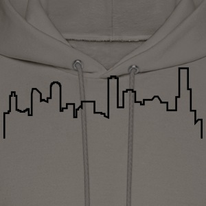 Melbourne Skyline Shirt - Grey - Men's Hoodie