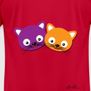 Kiddies-kittens Sweatshirts - Men's T-Shirt by American Apparel