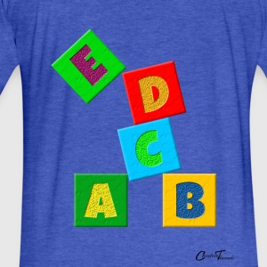 Kiddies-Alphabets Sweatshirts - Fitted Cotton/Poly T-Shirt by Next Level