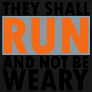 THEY SHALL RUN AND NOT BE WEARY Tanks - Men's Premium T-Shirt