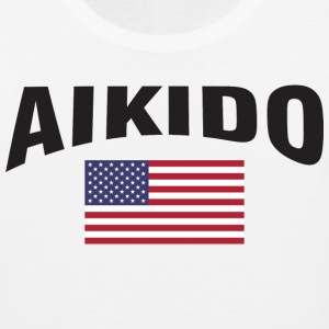 Aikido United States US Flag - Men's Premium Tank