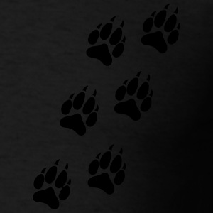 Wolf Paw Track Zip Hoodies & Jackets - Men's T-Shirt