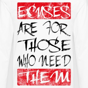 excuses black red T-Shirts - Men's Premium Long Sleeve T-Shirt