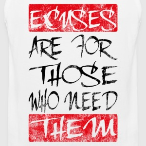 excuses black red T-Shirts - Men's Premium Tank