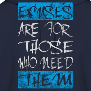 excuses white blue T-Shirts - Men's Hoodie