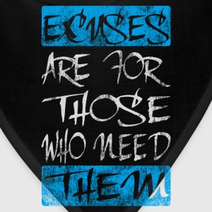 excuses white blue T-Shirts - Bandana