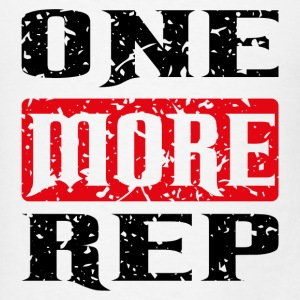 one more rep black red Tanks - Men's T-Shirt