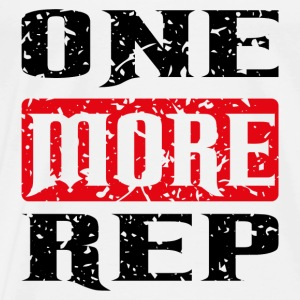 one more rep black red Tanks - Men's Premium T-Shirt