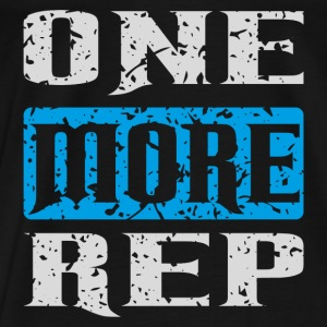 one more rep white blue Tanks - Men's Premium T-Shirt