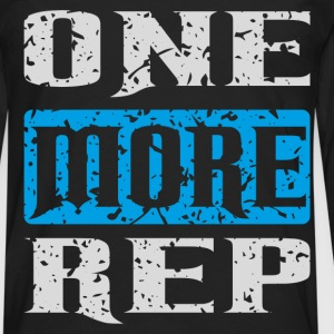 one more rep white blue T-Shirts - Men's Premium Long Sleeve T-Shirt