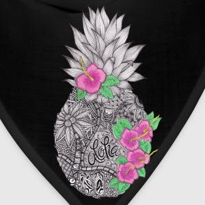Pineapple zentangle with Flower Women's T-Shirts - Bandana
