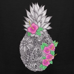 Pineapple zentangle with Flower Hoodies - Men's Premium Tank