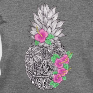 Pineapple zentangle with Flower T-Shirts - Women's Wideneck Sweatshirt