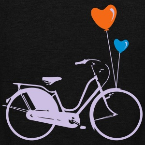 BIKE HEARTS BALLOONS No.1 Women's T-Shirts - Unisex Fleece Zip Hoodie by American Apparel