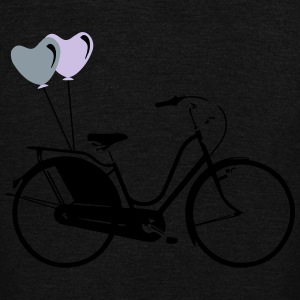 Bike Hearts Balloons No.2 Women's T-Shirts - Unisex Fleece Zip Hoodie by American Apparel