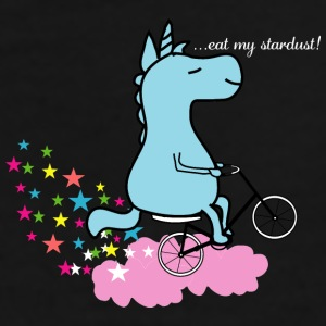 Eat my Stardust Unicorn on Bicycle Clouds & Stars Mugs & Drinkware - Men's Premium T-Shirt