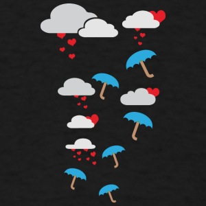 Umbrellas with hearts Tanks - Men's T-Shirt