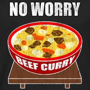 no worry beef curry - Men's Premium Long Sleeve T-Shirt