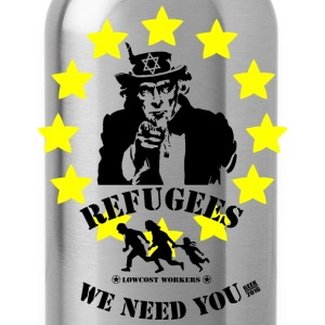 refugees welcome - Water Bottle
