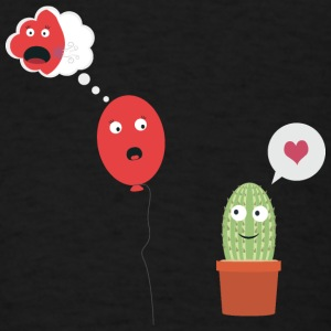 Cactus in love with balloon Bags & backpacks - Men's T-Shirt