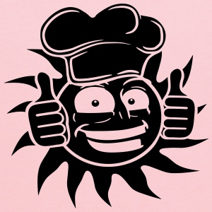 cook food grin black star sun cook chef chef's hat T-Shirts - Kids' Hoodie
