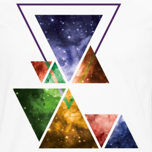 Art Triangle Galaxy T-Shirts - Men's Premium Long Sleeve T-Shirt