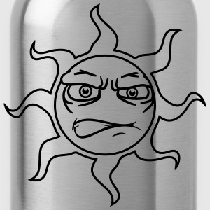 nasty nasty sour angry unfriendly face comic sun T-Shirts - Water Bottle