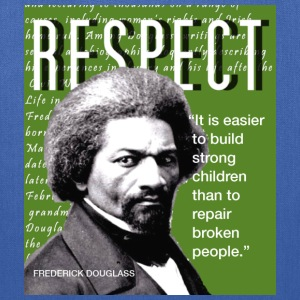 Frederick Douglass RESPECT Quote T-Shirts - Tote Bag