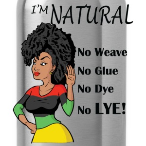 Black Natural Hair Wideneck Sweatshirt - Water Bottle