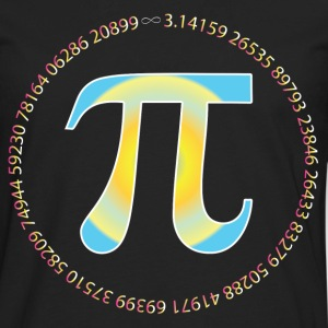 PI CIRCLE WITH NUMBERS T-Shirts - Men's Premium Long Sleeve T-Shirt