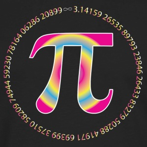 PI CIRCLE WITH NUMBERS Women's T-Shirts - Men's Premium Long Sleeve T-Shirt