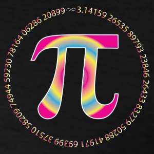 PI CIRCLE WITH NUMBERS Long Sleeve Shirts - Men's T-Shirt