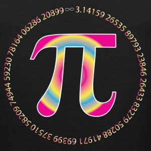 PI CIRCLE WITH NUMBERS Women's T-Shirts - Men's Premium Tank