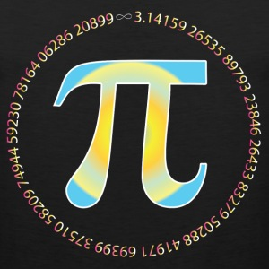 PI CIRCLE WITH NUMBERS T-Shirts - Men's Premium Tank