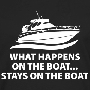 What Happens On The Boat - Men's Premium Long Sleeve T-Shirt