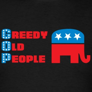 Grand Old Party (GOP) = Greedy Old People Long Sleeve Shirts - Men's T-Shirt